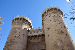 Torres de Quart. A famous pair of twin towers which were a part of a wall in medieval Valencia Royalty Free Stock Photos