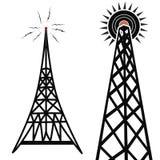 Torres de radio Imágenes de archivo libres de regalías