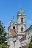 Torres de reloj de la abadía de Einsiedeln Imagen de archivo