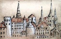 Torres de Riga Foto de archivo libre de regalías