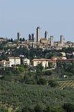 Torres de San Gimignano Foto de archivo