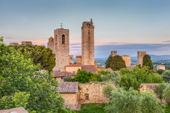 Torres de San Gimignano, Toscana, Italia Imagen de archivo libre de regalías