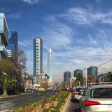Torres De Santiago de Chile lizenzfreies stockfoto