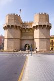 Torres de Serranos. Medieval twin-towered gates (Torres de Serranos) - Valencia, Spain Royalty Free Stock Photography