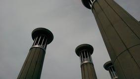 Torres de sino nublado imagem de stock royalty free