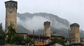 Torres de Svan em Mestia Svaneti Foto de Stock Royalty Free
