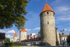Torres de Tallinn velho Imagens de Stock