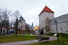 Torres de Tallinn vieja Imagen de archivo libre de regalías