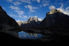 Torres de Trango de Urdukas - nascer do sol Imagens de Stock
