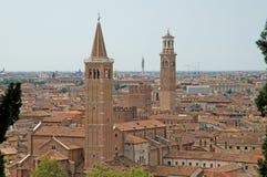 Torres de uma cidade Fotos de Stock Royalty Free