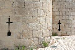 Torres de un castillo medieval Fotografía de archivo libre de regalías