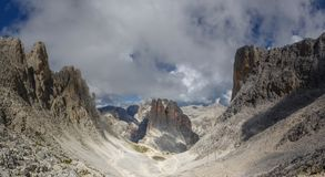Torres de Vajolet nas dolomites Fotos de Stock