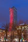 Torres de Varsovia en la noche Fotos de archivo libres de regalías