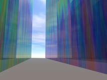 Torres de vidro coloridas ilustração royalty free