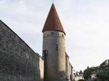 Torres defensivas antiguas alineadas en fila Foto de archivo libre de regalías