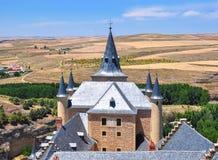 Torres del Alcazar de Segovia, España fotografía de archivo