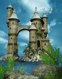 Torres del castillo de la fantasía libre illustration