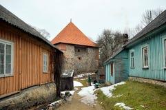 Torres del castillo de Trakai, Lituania Fotos de archivo libres de regalías