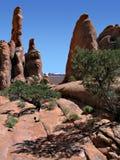 torres del desierto Fotografía de archivo libre de regalías