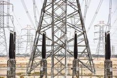 Torres del generador de poder Imagen de archivo