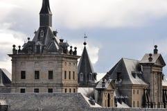 Torres del monasterio de San Lorenzo de El Escorial, Madrid Fotografía de archivo libre de regalías