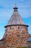 Torres del monasterio de Solovetsky fotografía de archivo libre de regalías