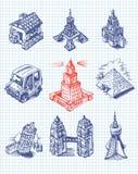 Torres del mundo ilustración del vector