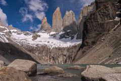 Torres del paine Towers 免版税库存照片