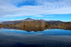 Torres del Paine λίμνη National πάρκων Στοκ φωτογραφίες με δικαίωμα ελεύθερης χρήσης