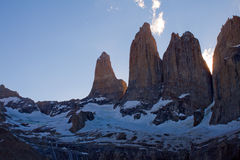 Torres del Paine. The peaks of Torres del Paine Royalty Free Stock Image