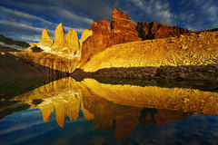 Torres Del Paine At Sunrise Royalty Free Stock Photo