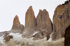 Torres del Paine, Chile. The Torreses of the Torres del Paine national park, Chile stock photography