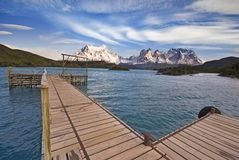 Torres del Paine, Chile, view from Explora Stock Images