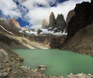 Torres del Paine. In chilean patagonia Stock Photos
