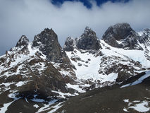 Torres del Paine in fall, Chile. Cerro Blanco Sur seen from the Torres del Paine circuit Stock Photography