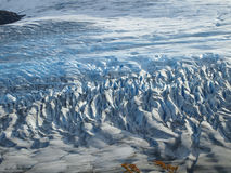 Torres del Paine in fall, Chile. Glacier Grey seen from above on the Torres del Paine circuit Stock Photo