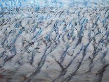 Torres del Paine in fall, Chile. Glacier Grey seen from above on the Torres del Paine circuit Stock Photography