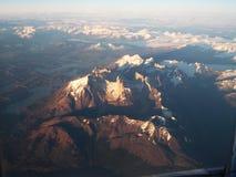 Torres del Paine från luften royaltyfri fotografi