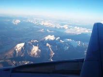 Torres del Paine från luften arkivfoto