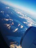 Torres del Paine från luften Arkivfoton