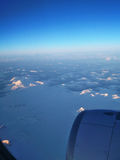 Torres del Paine från luften royaltyfri foto