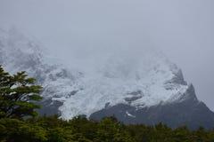 Torres del Paine French Valleigletsjer Stock Fotografie