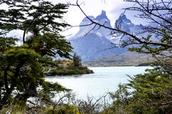 Torres del Paine - het Nationale Park van Patagonië - van Chili stock afbeeldingen