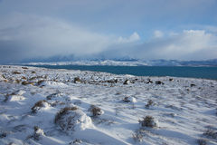 Torres Del Paine i vinter Fotografering för Bildbyråer