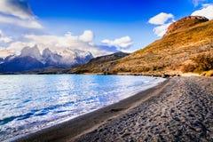 Torres Del Paine im Patagonia, Chile - Lago Pehoe Stockfotos