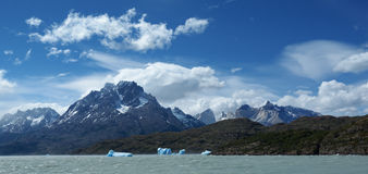 Torres del Paine laguna Grey Royalty Free Stock Photography