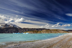 Torres del Paine, Lake Grey Royalty Free Stock Image