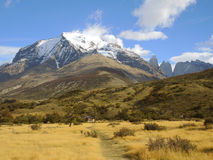 Torres del Paine landscape. In Chile Stock Image