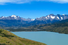 Torres del Paine mountains and lake Stock Photography
