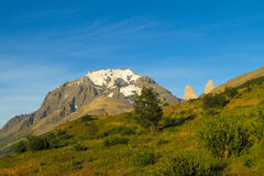 Torres del Paine mountains Stock Image